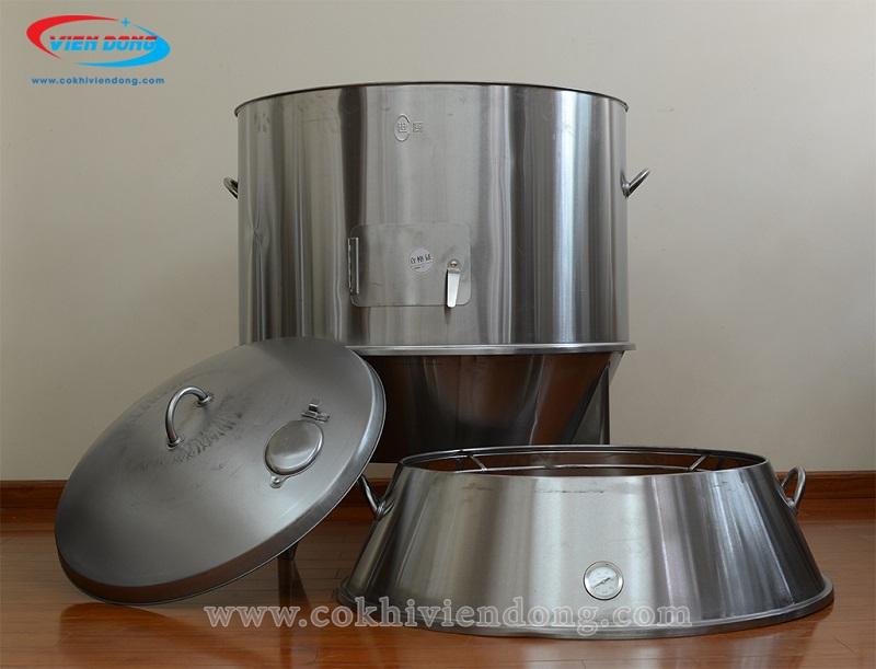 inox chế tạo lò quay gà vịt dùng than