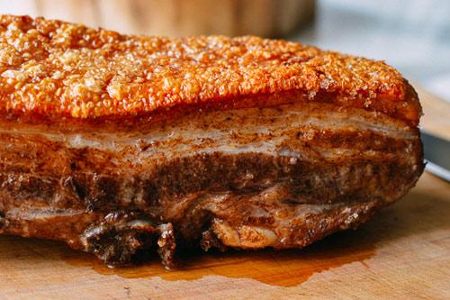 cách làm thịt heo quay giòn từ lò nướng