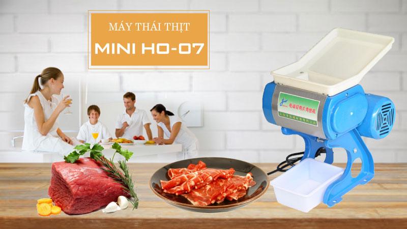 Máy thái thịt mini HO 07- bạn đồng hành cùng các bà nội trợ