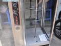 trục xoay và bảng điều khiển lò quay vịt bằng điện