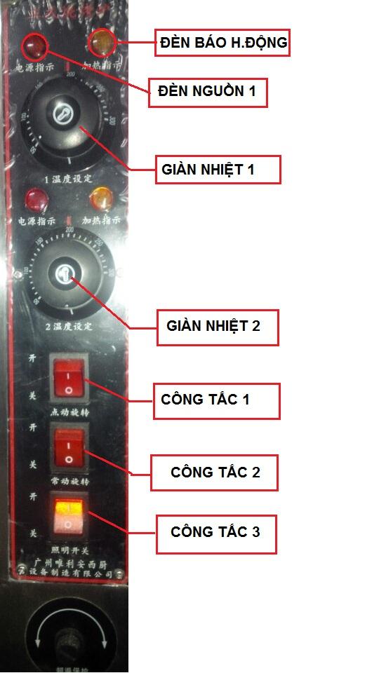 Hướng dẫn sử dụng lò quay vịt bằng điện YXD-206