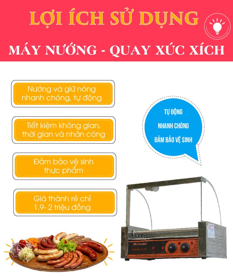 máy nướng xúc xích 7 thanh