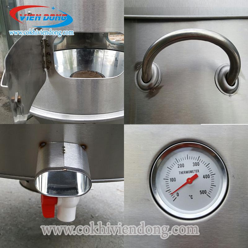 Đồng hồ đo nhiệt lò nướng vịt bằng than