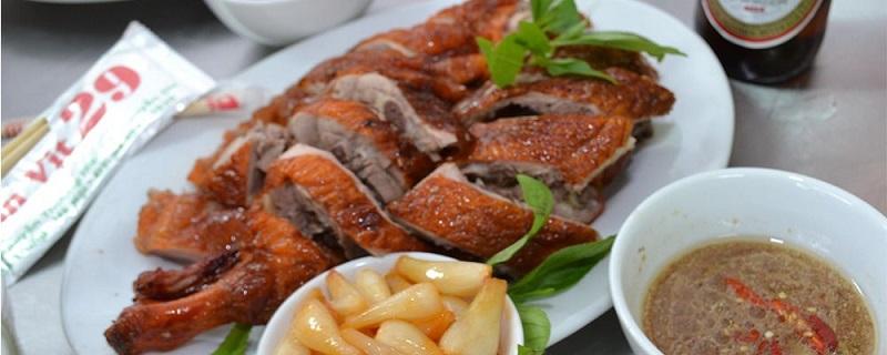 món ăn từ lò nướng vịt dùng điện