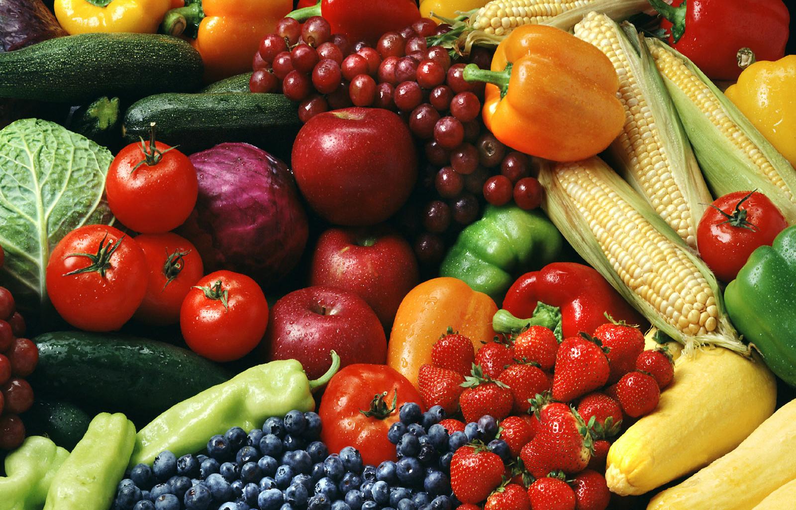 các loại hoa quả, thục phẩm
