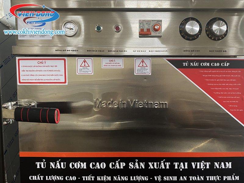 Dòng tủ hấp cơm Inox kết hợp điện + gas