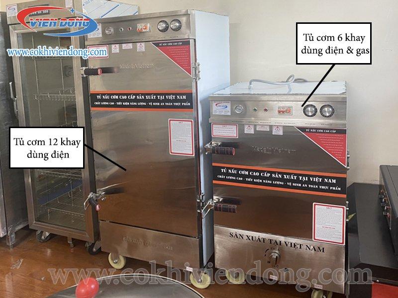 Tủ hấp cơm Inox Việt Nam và Trung Quốc