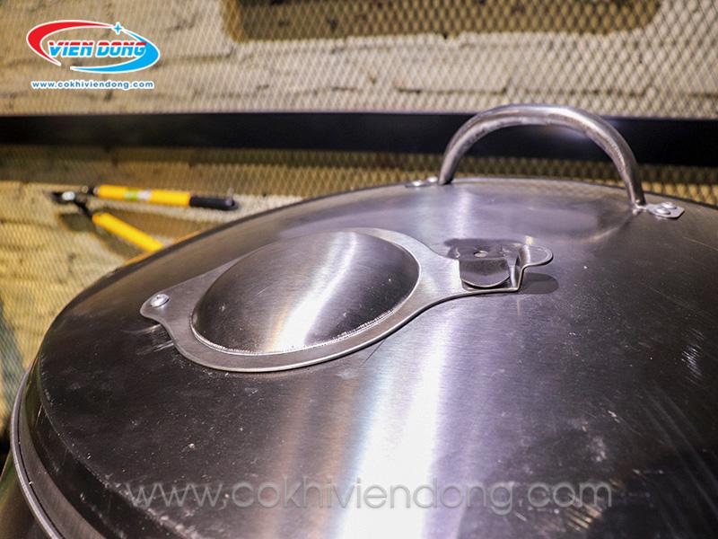 Lu quay gà vịt bằng gas 90cm